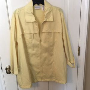 Alfred Dunner 22W pale yellow jacket